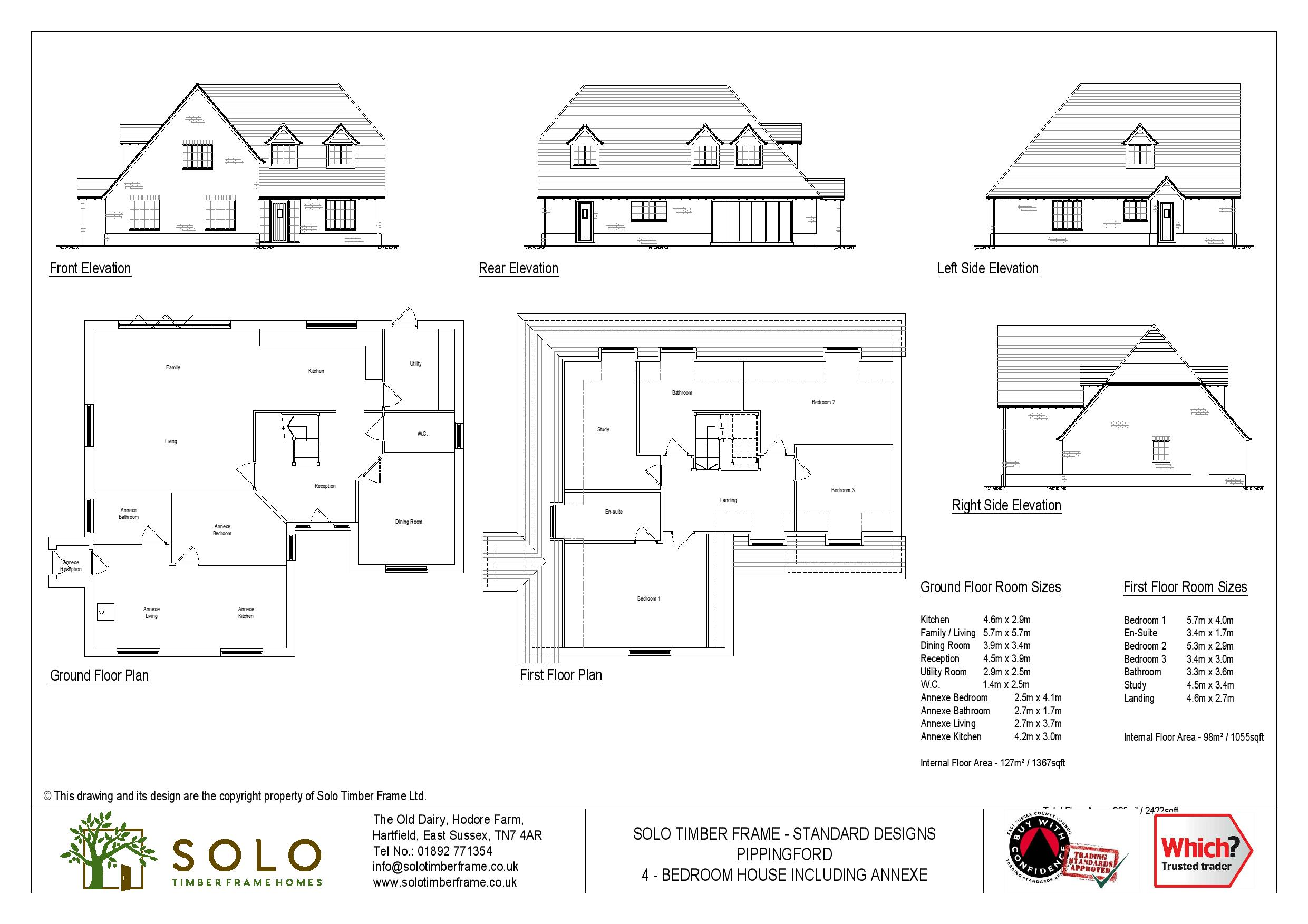 Pippingford 4 Bedroom Chalet Design
