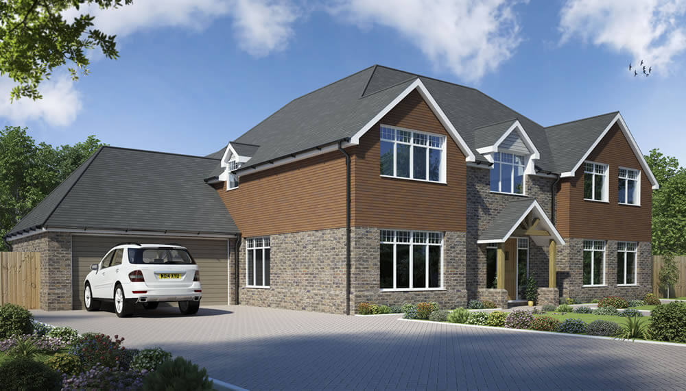 Vachery 5 bedroom house design solo timber frame for 5 bedroom house designs uk