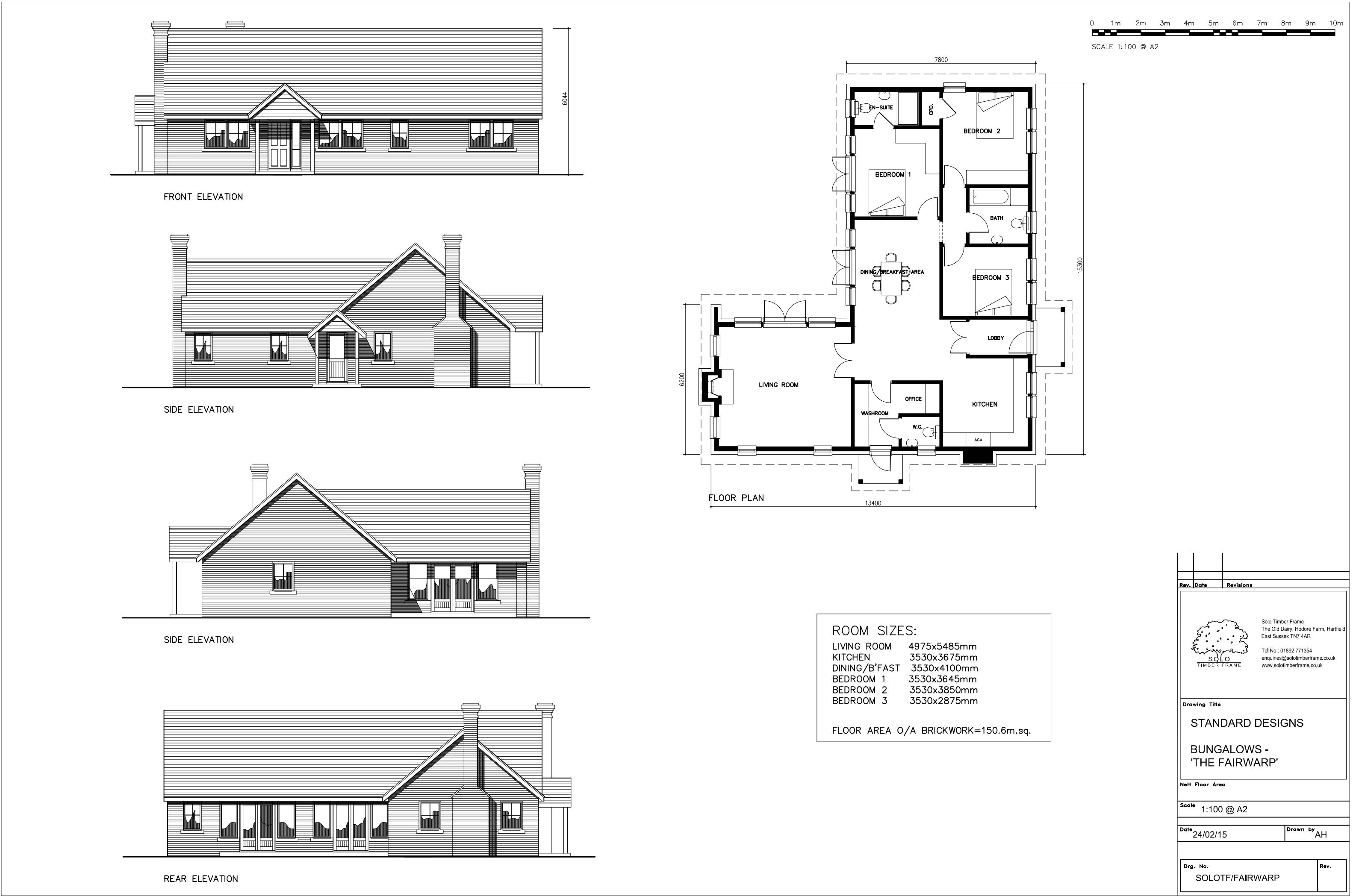 Fairwarp 3 Bedroom Bungalow Design Designs Solo Timber Frame