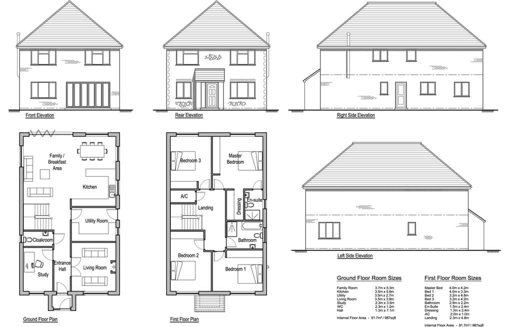 Hollies 4 bedroom house design solo timber frame for 2 bed house floor plans uk