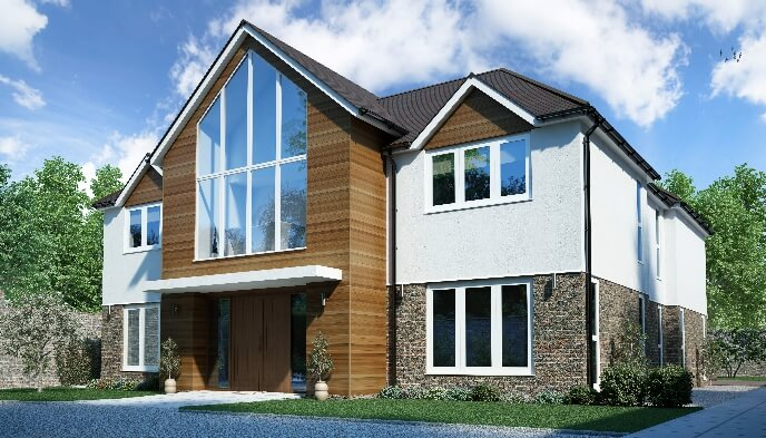 Self build timber frame house designs range solo timber for 5 room house plans