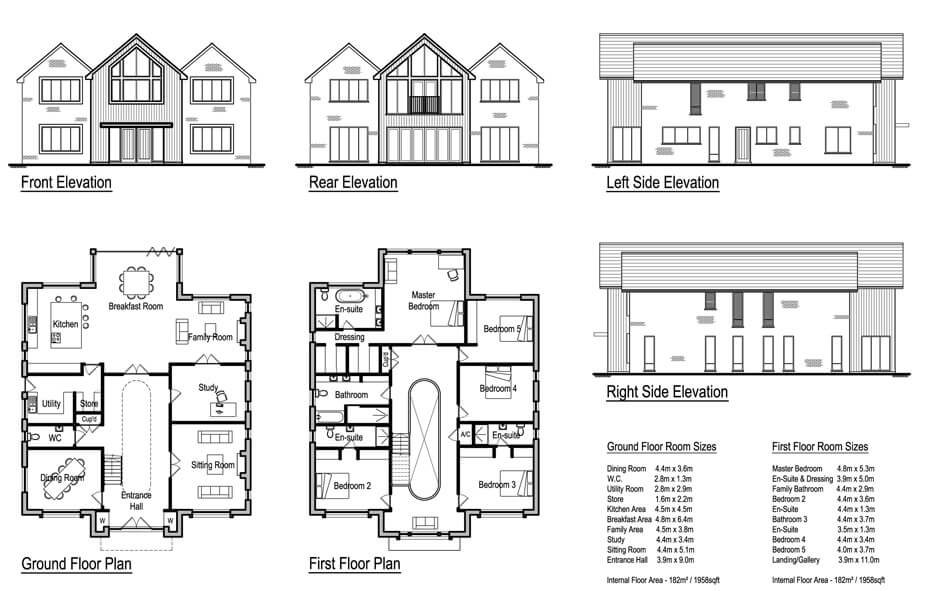 Lintons 5 bedroom house design solo timber frame for House building plans uk