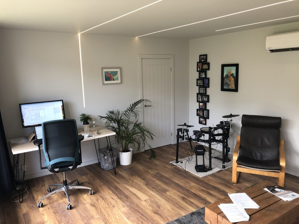 Timber Frame Home office