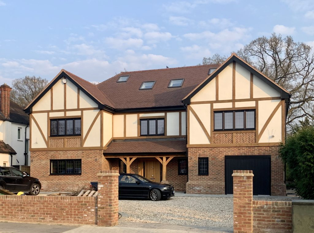 Timber Frame house completed