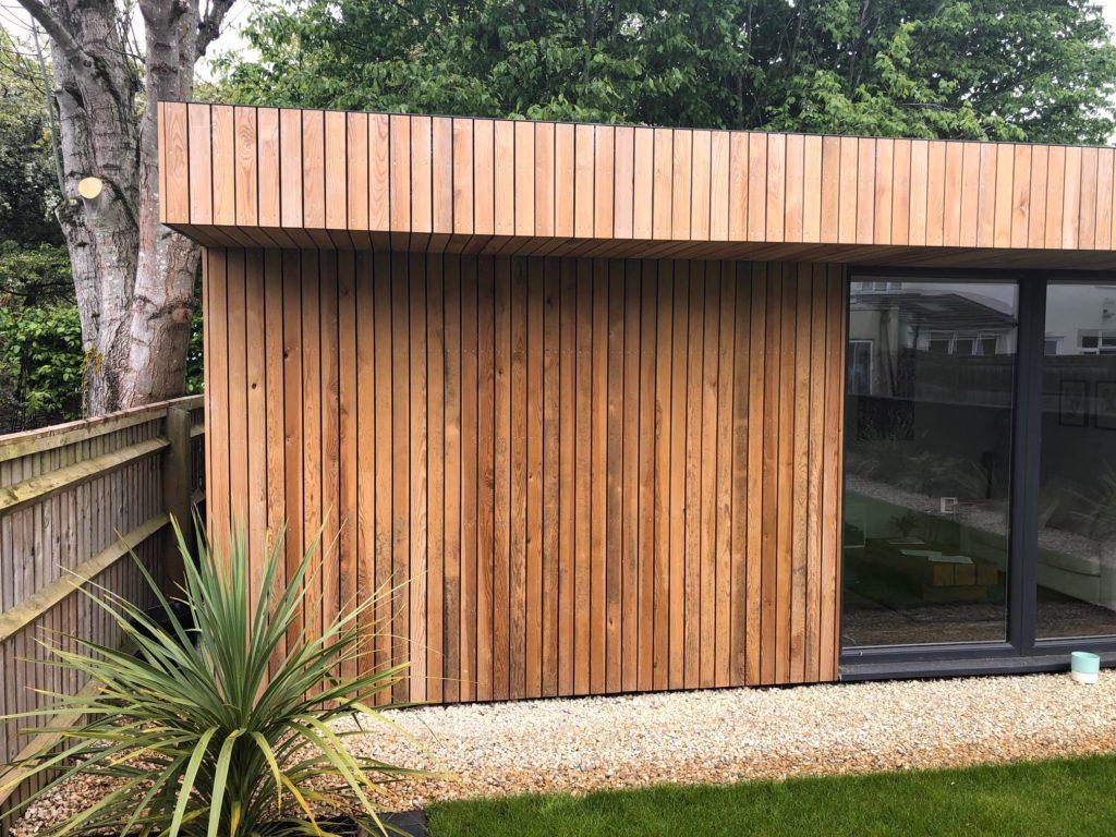 Timber Frame garden office exterior