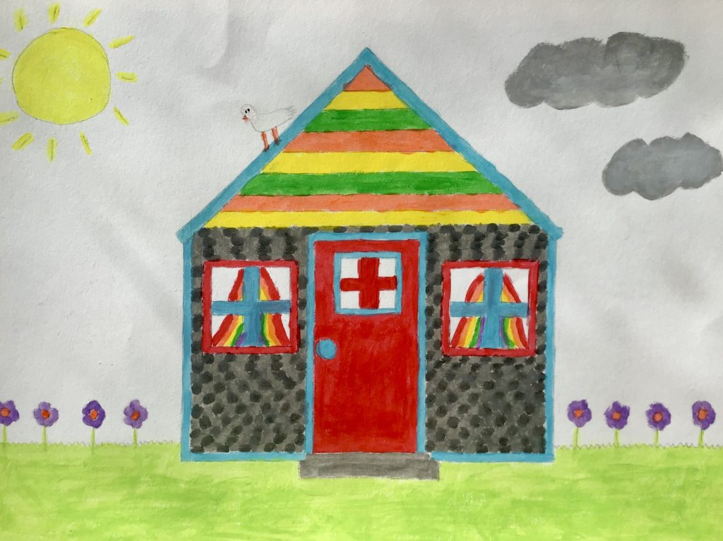 8yo Graces rainbow hospital house
