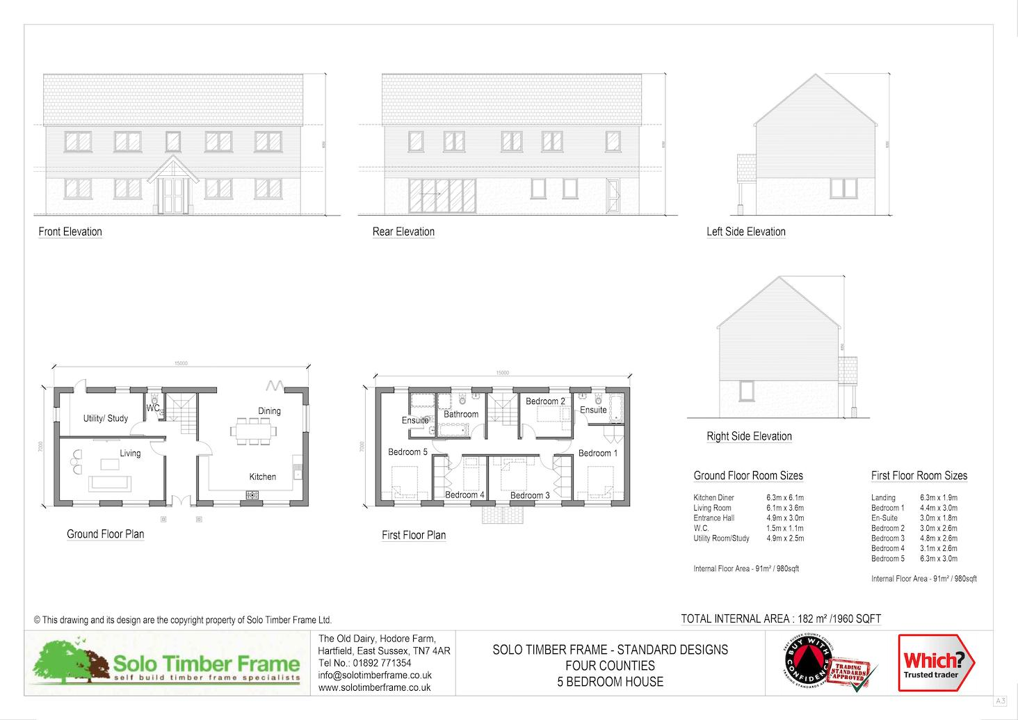 Four Counties 5 Bedroom House Design