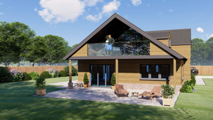 Forest Centre 3 Bedroom Chalet Bungalow Design