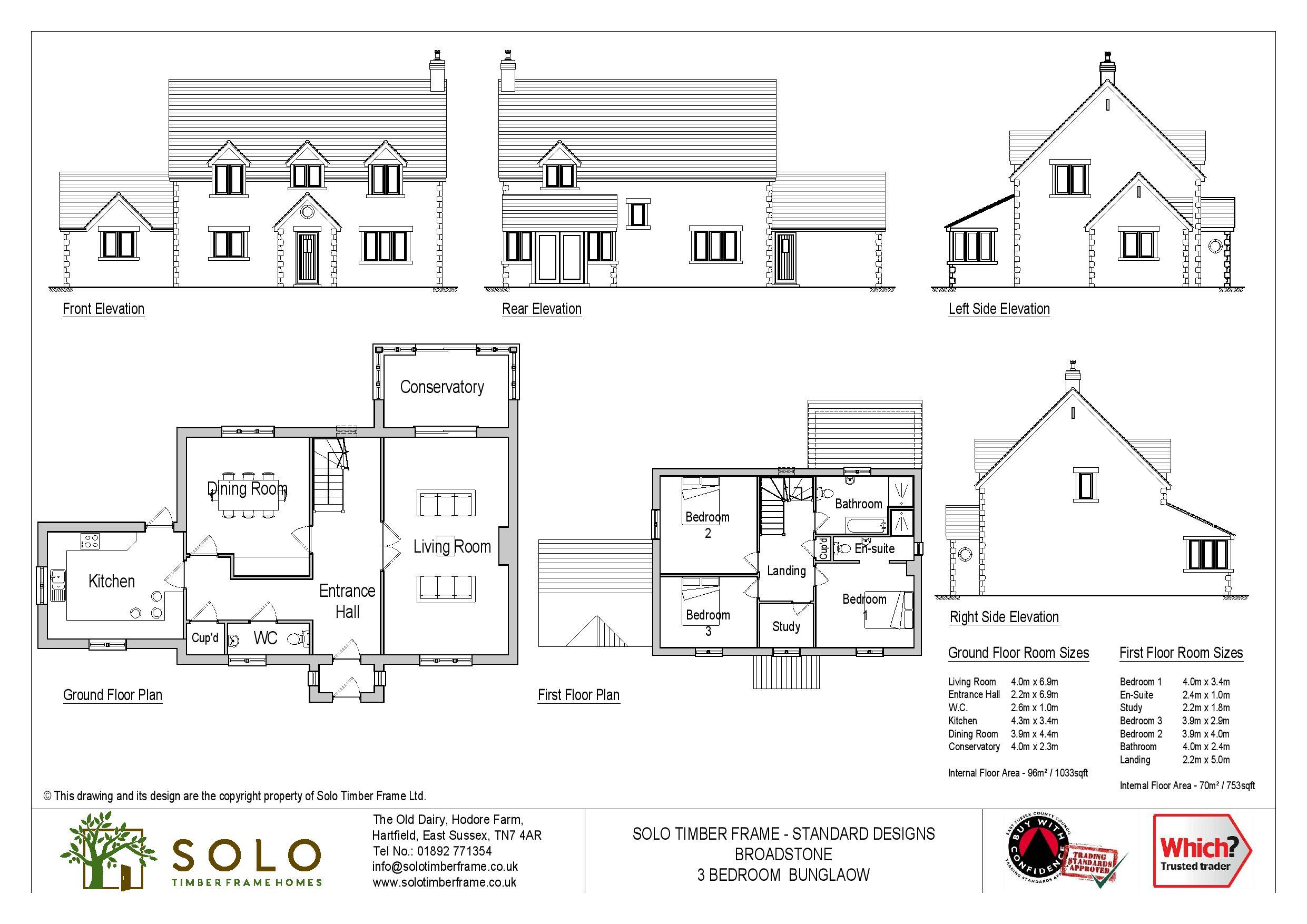 Broadstone 3 or 4 Bedroom House Design