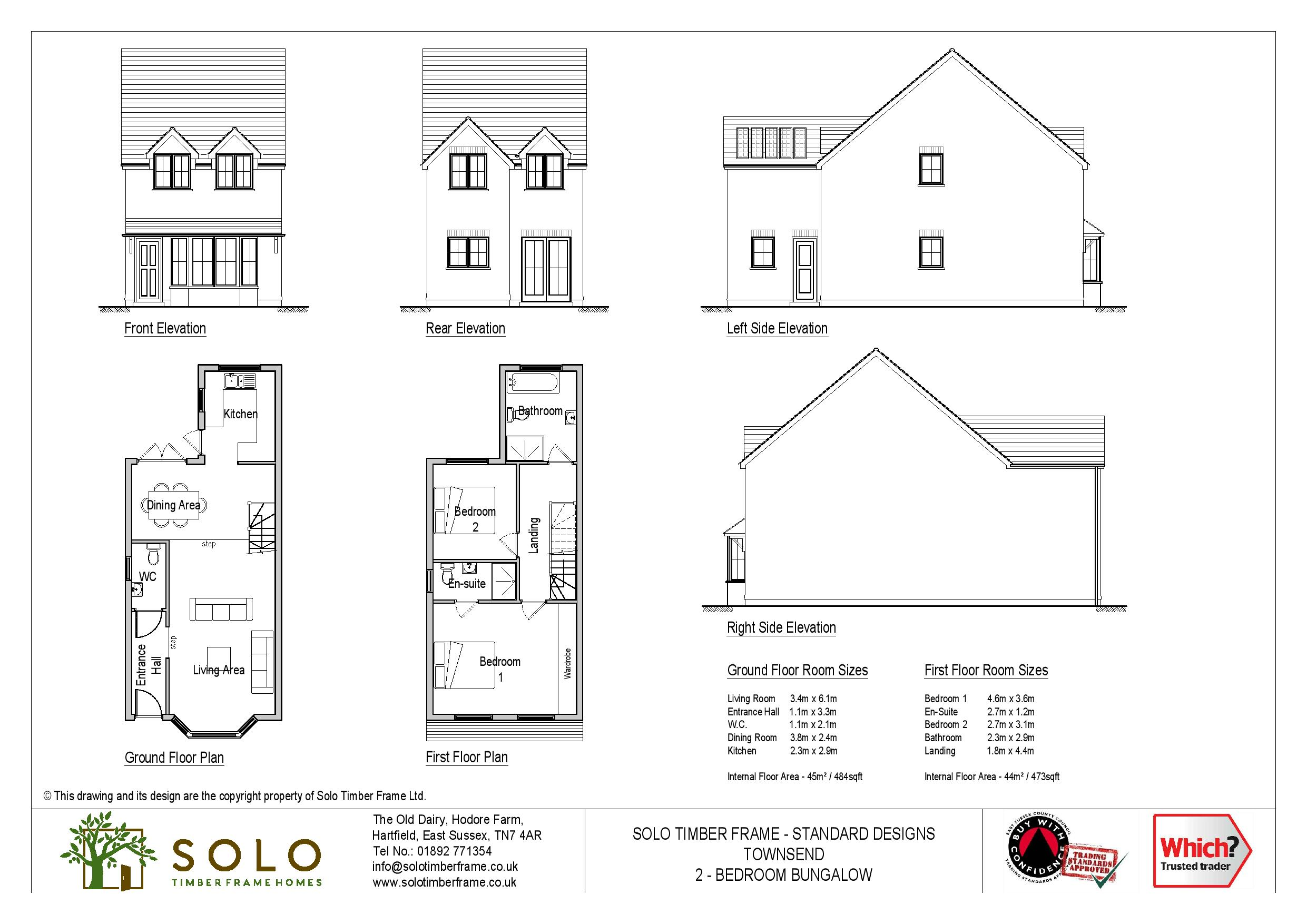 Townsend 3 – 3 Bedroom House Design